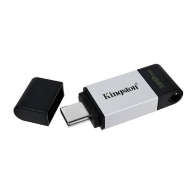 KINGSTON Pendrive 128GB, DT 80 USB-C 3.2 Gen 1 (200/60)