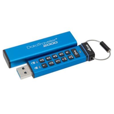 KINGSTON Pendrive 4GB, DT 2000 USB 3.0, 256bit AES FIPS 197, Keypad