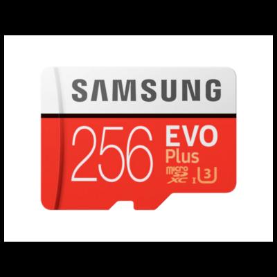 SAMSUNG Memóriakártya MicroSDHC 256GB EVOPLUS CLASS 10, UHS-1 Grade1, + Adapter, R100/W90