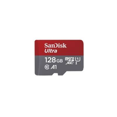 SANDISK MICROSD ULTRA KÁRTYA 128GB, 120MB/s, A1, Class10 UHS-I