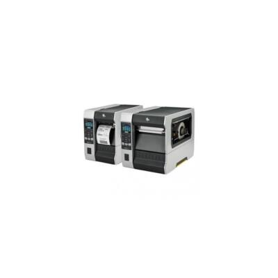 Zebra cimkenyomtató, ZT610, (600 dpi), TT, cimke leválasztó, vissza csévélő, kijelző, ZPL, ZPLII, USB, RS232, BT, Ethern